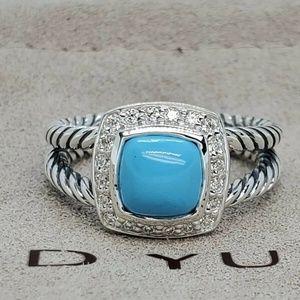 David Yurman Petite Albion Turquoise Ring